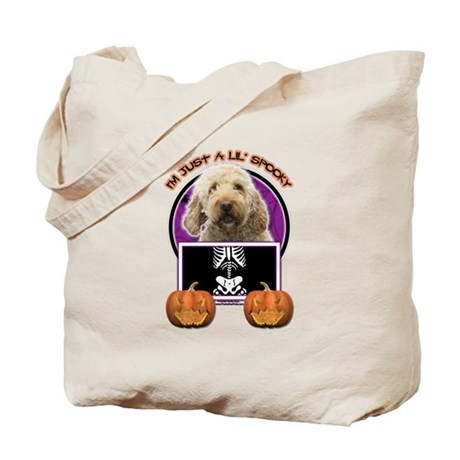 Just a Lil Spooky GoldenDoodle Tote Bag