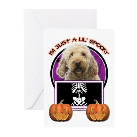 Just a Lil Spooky GoldenDoodle Greeting Cards (Pk