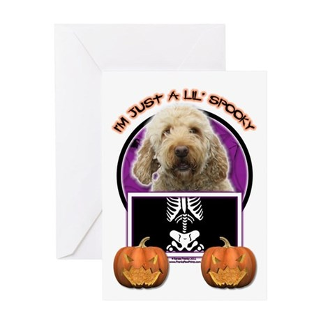 Just a Lil Spooky GoldenDoodle Greeting Card