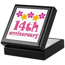 14th Anniversary Tropical Gift Keepsake Box