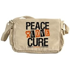 Leukemia PeaceLoveCure Messenger Bag