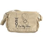 Lung Cancer Hero Ribbon Messenger Bag