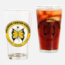 Childhood Cancer Survivor Drinking Glass
