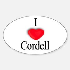 Cordell Oval Decal