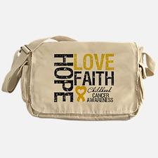 Childhood Cancer Faith Messenger Bag