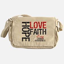 Lung Cancer Faith Messenger Bag