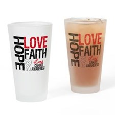 Lung Cancer Faith Drinking Glass