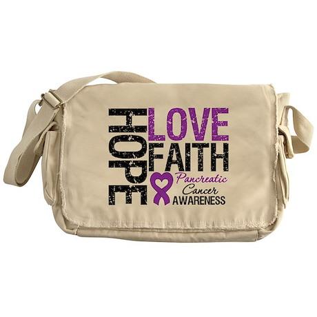 Pancreatic Cancer Faith Messenger Bag