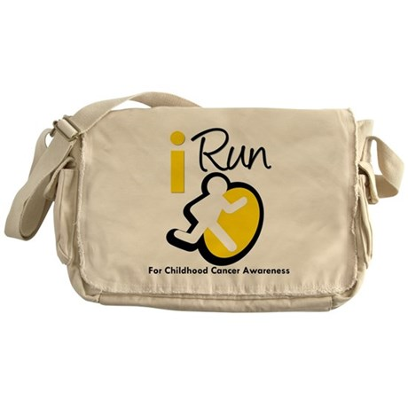 I Run Childhood Cancer Messenger Bag