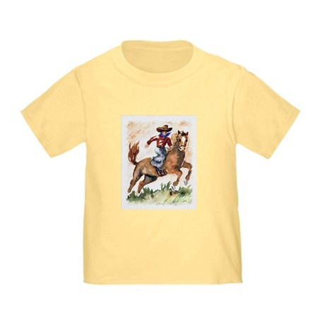 Cowboy on Horse Toddler T-Shirt
