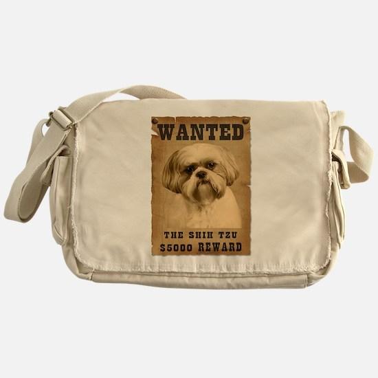 """Wanted""Shih Tzu Messenger Bag"