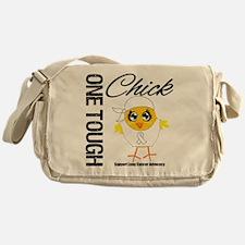Lung Cancer One Tough Chick Messenger Bag