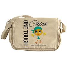 Ovarian Cancer OneToughChick Messenger Bag