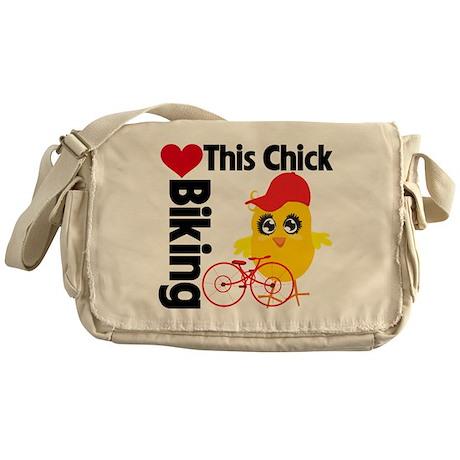 This Chick Loves Biking Messenger Bag