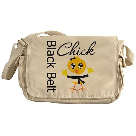 Black Belt Chick Messenger Bag