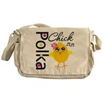 Polka Chick Messenger Bag