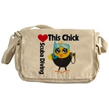 This Chick Loves Scuba Diving Messenger Bag