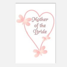 Mother Of The Bride Pink Hear Postcards (Package o