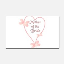Mother Of The Bride Pink Hear Car Magnet 20 x 12
