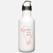 Mother Of The Bride Pink Hear Water Bottle