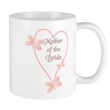 Mother Of The Bride Pink Hear Mug
