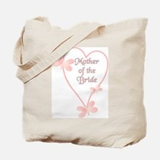 Mother Of The Bride Pink Hear Tote Bag