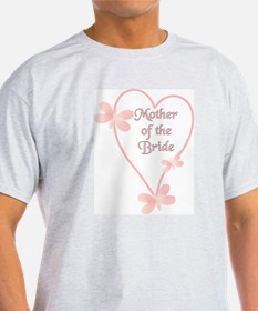 Mother Of The Bride Pink Hear T-Shirt