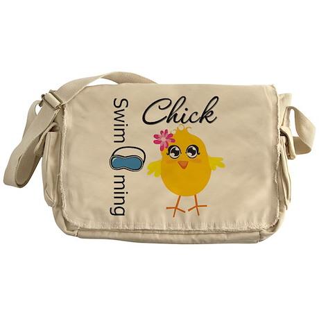 Swimming Chick v3 Messenger Bag