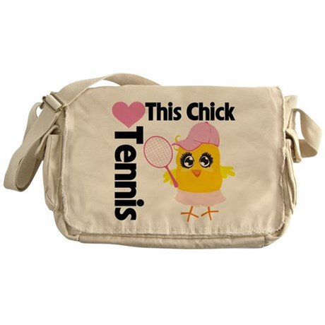 This Chick Loves Tennis Messenger Bag