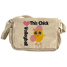 This Chick Loves Volleyball Messenger Bag