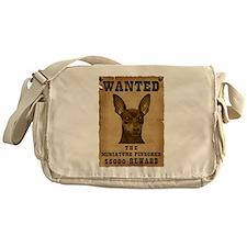 """""""Wanted"""" Miniature Pinscher Messenger Bag"""