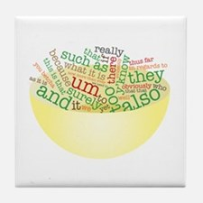 Word Salad Bowl Tile Coaster
