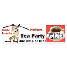 Tea Party Politics Bumper Bumper Sticker