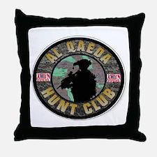SUBDUED ALQEADA HUNT CLUB Throw Pillow