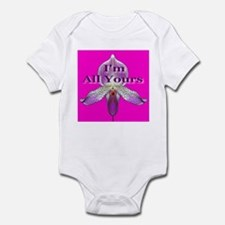 I'm All Yours Georgia Font Infant Creeper