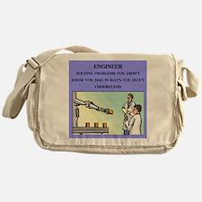 engineer engineering joke Messenger Bag
