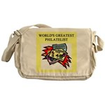 philatelist gifts t-shirts Messenger Bag