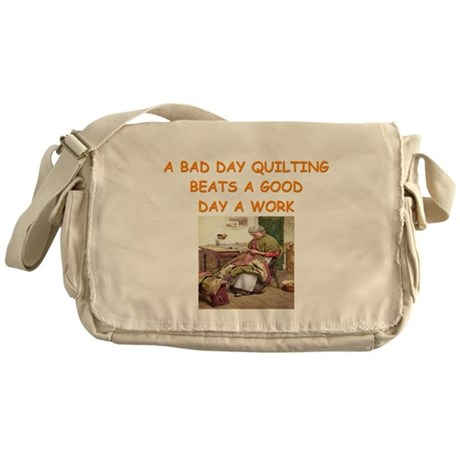 quilting Messenger Bag
