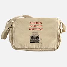 funny author writer pun Messenger Bag