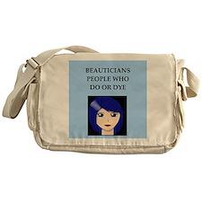 funny beautician beauty joke Messenger Bag