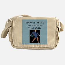 chairwoman gifts t-shirts Messenger Bag