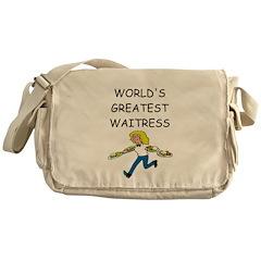 world's greatest waitress Messenger Bag