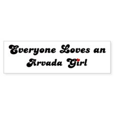 Loves Arvada Girl Bumper Bumper Sticker