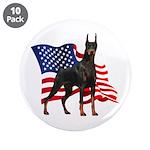 American Flag Doberman 3.5