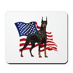 American Flag Doberman Mousepad