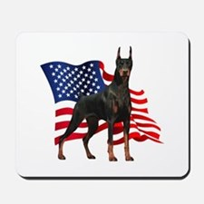 American Flag Doberman Mousepad
