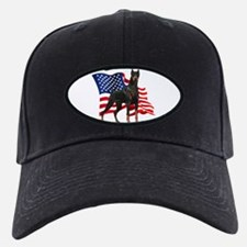 American Flag Doberman Baseball Hat