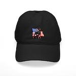 American Flag Doberman Black Cap