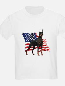 American Flag Doberman T-Shirt