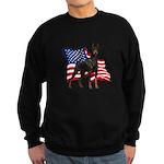 American Flag Doberman Sweatshirt (dark)